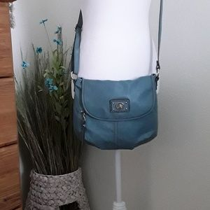 Relic crossbody bag. Flap front.